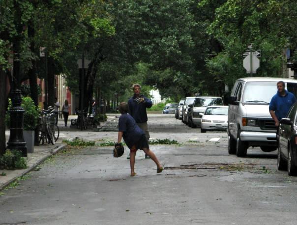 Playing Catch in the Street