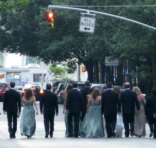 Wedding Walk Down Fifth Avenue