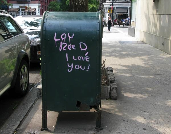 Lou Reed Spray Painted on a Mail Box