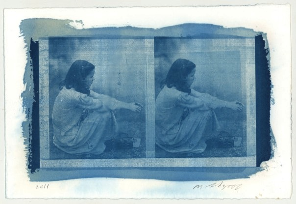 Stacy Horn Portrait in Cyanotype