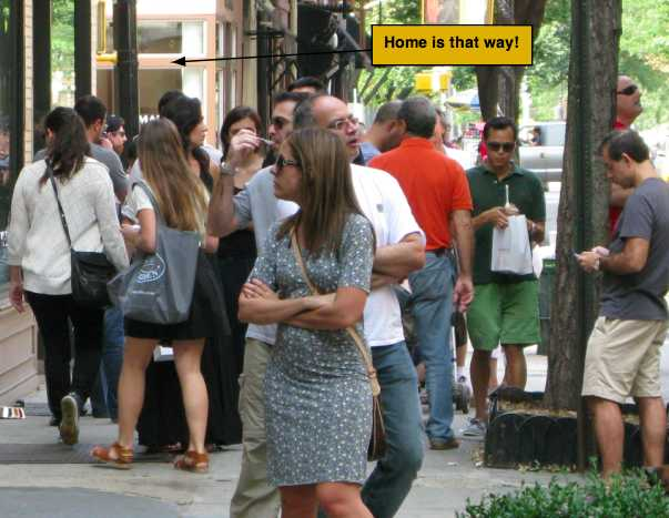 Tourists on Bleecker Street
