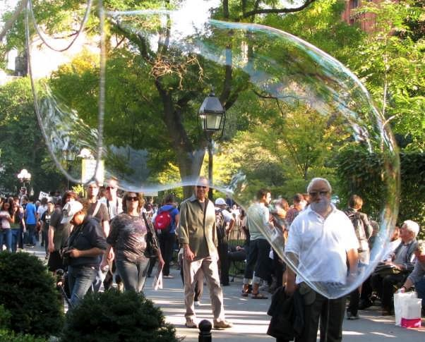 Making Bubbles in Washington Square Park