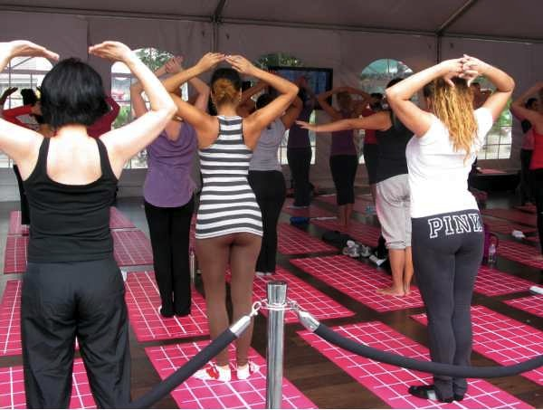 Exercise class at Union Square