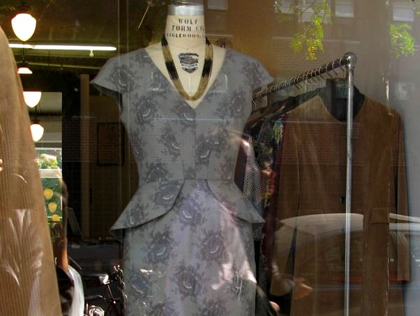 Beautiful Dress in the Window on Hudson Street
