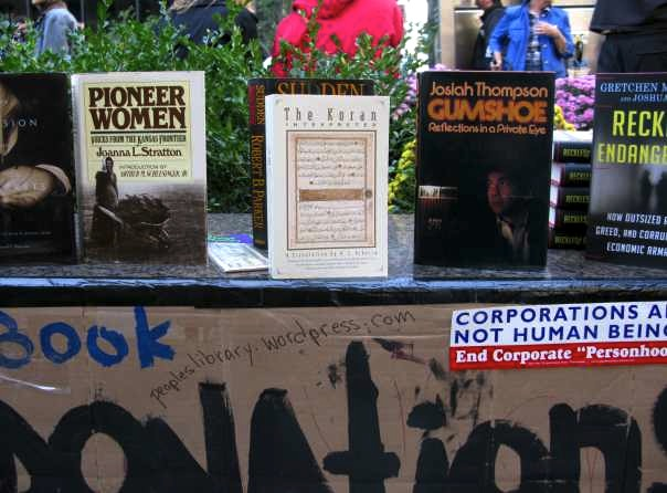 Lending Library at Occupy Wall Street
