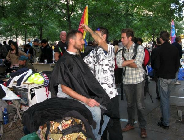Haircut at Occupy Wall Street