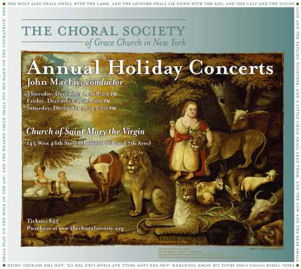 Choral Society of Grace Church Concert Flyer 2011