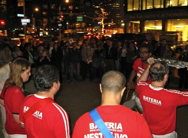 Manhattan Samba Playing at Winter's Eve Event at Lincoln Center