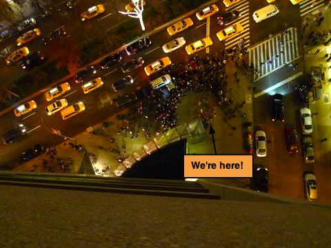 Aerial View of Manhattan Samba Playing at Winter's Eve Event