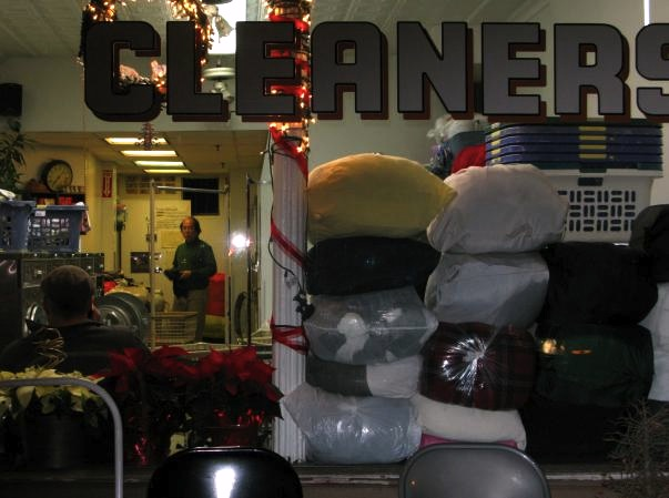 Laundromat at Christmas, NYC