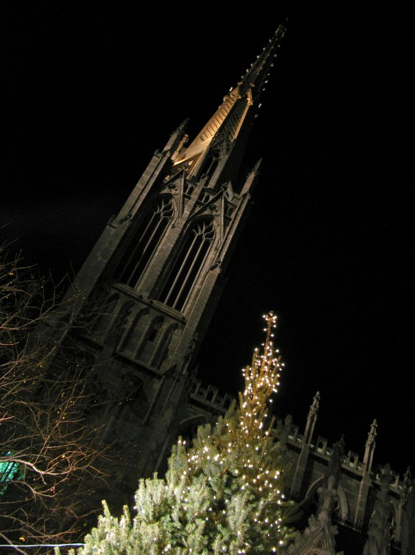 Grace Church, New York City, During the Holidays