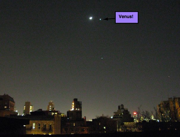 Venus from New York City Rooftop
