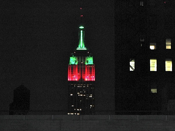 Empire State Building at Christmas