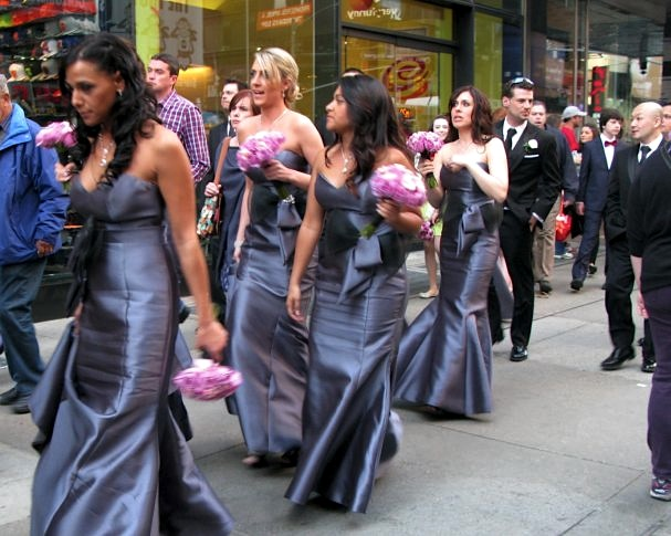 Wedding Party in Time Square, New York City