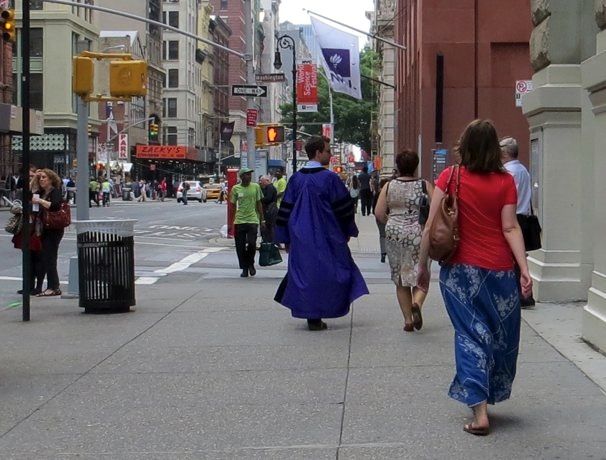 New York University Graduate on Broadway, New York City