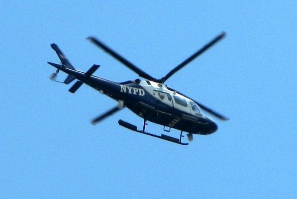 NYPD Helicopter Hover in the West Village, New York City