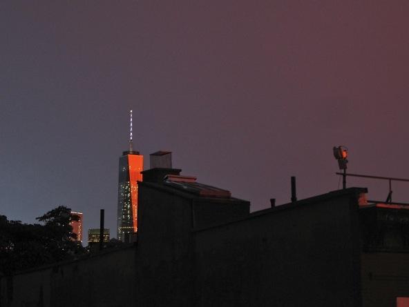 Sunset on One World Trade Center