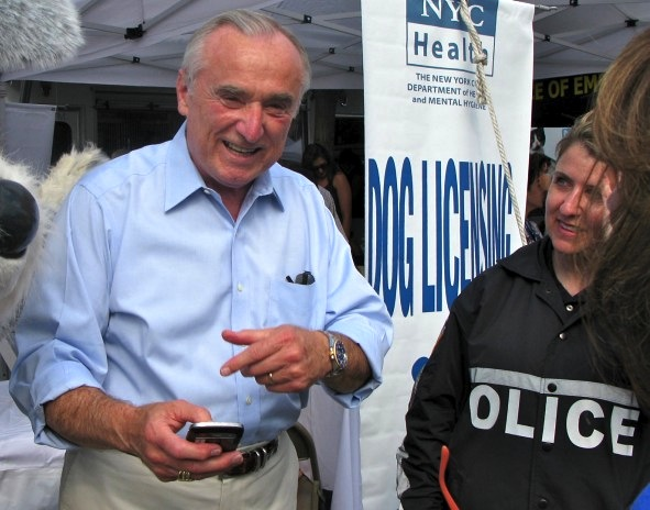 William Bratton at Adoptapalooza, Union Square, New York Cit