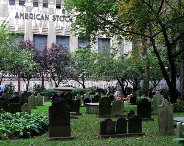 American Stock Exchange and Trinity Graveyard