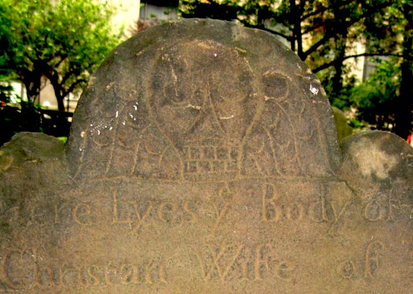 Trinity Church gravestone, New York City