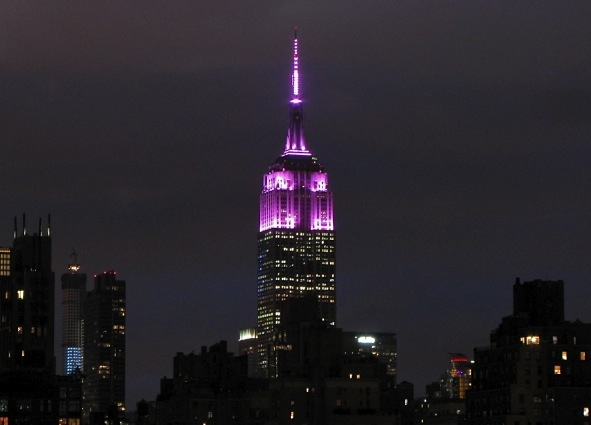 Empire State Building in Pink