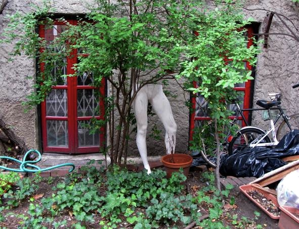 Creepy Yard, 11th Street, West Village, New York City