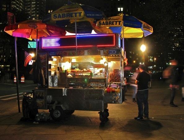 Hot Dog Cart, Downtown Manhattan, City Hall