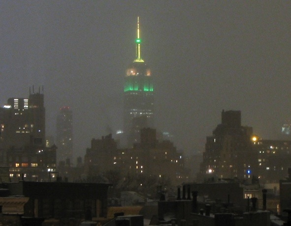 Empire State Building Pre-Blizzard, New York City, 2015