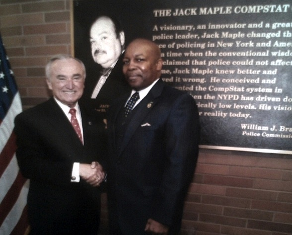 New York City Police Commissioner William Bratton and Detective Wendell Stradford