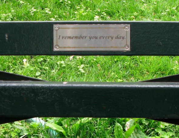 Bench Dedication, Central Park, New York City