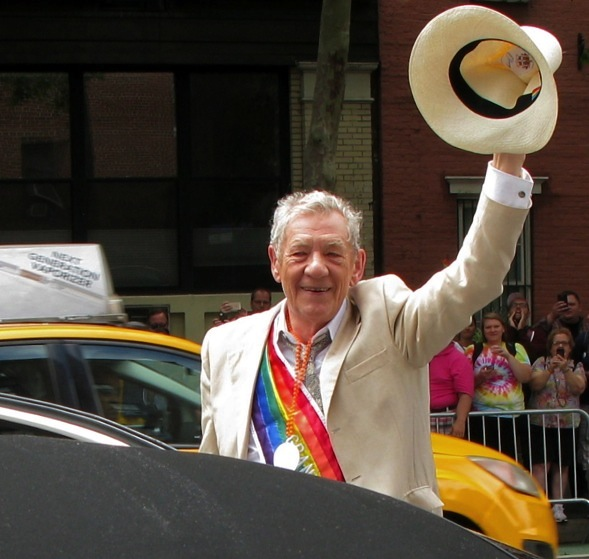 Sir Ian McKellen, Gay Pride Parade, 2015