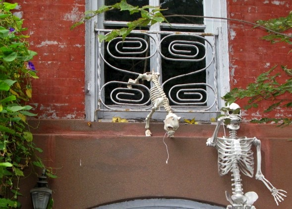 Halloween Decorations, West Village, New York City