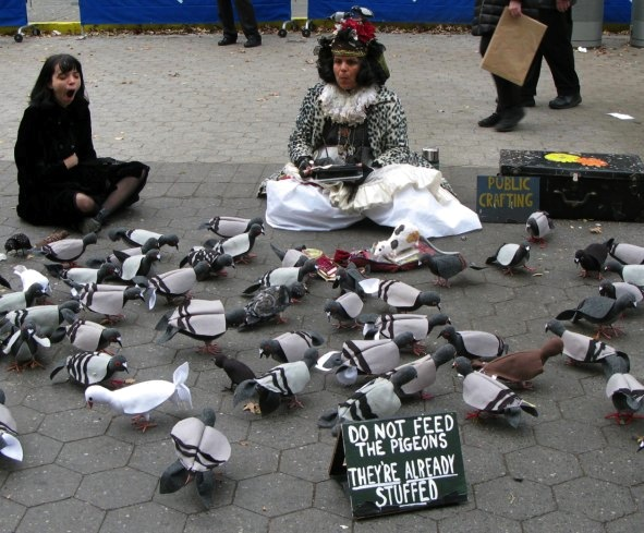 Pigeons, Union Square
