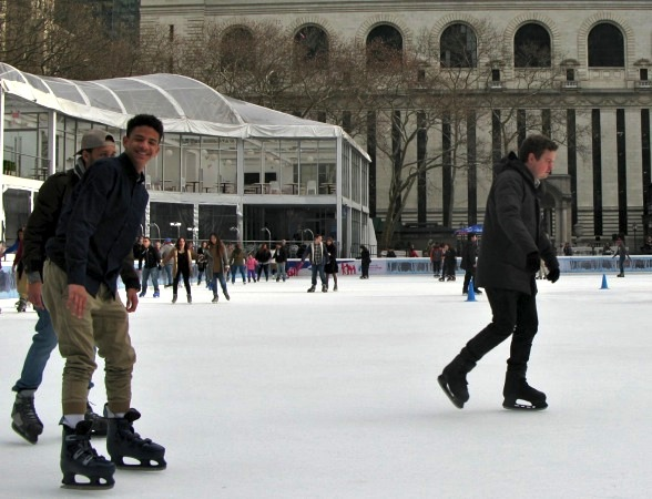 Skating, Bryant Park, New York City, 2016