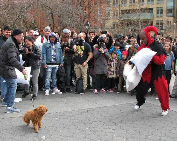 Washington Square Pillow Fight