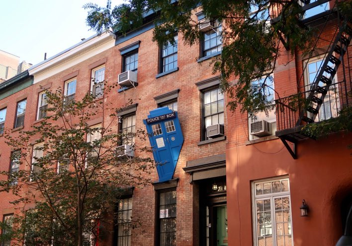 Tardis, Halloween, West Village, New York City, 2017