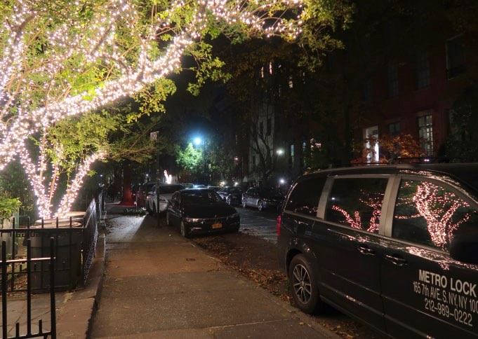 Christmas Lights, West Village, New York City, 2017